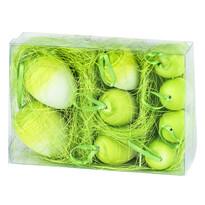 Veľkonočné vajíčka 9 ks, zelená