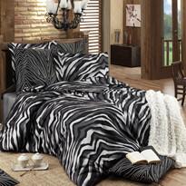 Bavlnené obliečky Bengal čierna, 140 x 220 cm, 70 x 90 cm