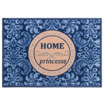 Vnútorná rohožka Home Princess modrá, 50 x 70 cm