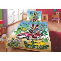 Lenjerie pat pentru copii Matějovský Cârtița în mașină, 140 x 200 cm, 70 x 90 cm