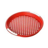 Banquet tác červený puntík kulatý
