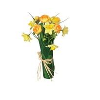 Umelá kvetina zväzok narcisov a Ranunculus