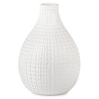 Vază ceramică Pompei, alb, 28 cm