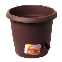 Samozavlažovací květináč Siesta, čokoláda