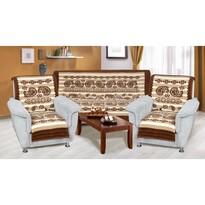 Přehozy na sedací soupravu Karmela plus Kašmír, 150 x 200 cm, 2 ks 65 x 150 cm