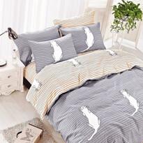 DecoKing Bavlnené obliečky Kitty Bed sivá, 135 x 200 cm, 80 x 80 cm