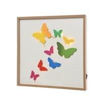 LED obraz Butterflies, 30 x 30 cm