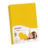 Kamilka frottír lepedő sárga