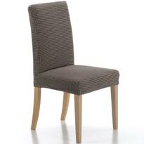 Multielastický potah na židli Sada hnědá, 40 - 50 cm, sada 2 ks