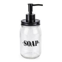 Skleněný dávkovač mýdla Soap, černá