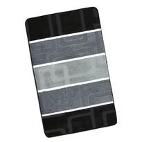 Dywanik łazienkowych Avangard Czarno-szare prostok, 60 x 100 cm