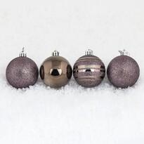 Vianočné gule 7 ks, tmavo medená