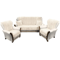 4Home Prehozy na sedaciu súpravu Baránok krémová, 150 x 200 cm, 2 ks 65 x 150 cm