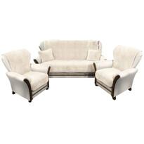 4Home Narzuty na kanapę i fotele Baranek kremowy, 150 x 200 cm, 2 szt. 65 x 150 cm