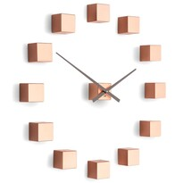 Future Time FT3000CO Cubic copper Designowe zegar samoprzylepny, śr. 50 cm