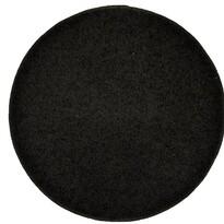 Kusový koberec Elite Shaggy černá, průměr 120 cm