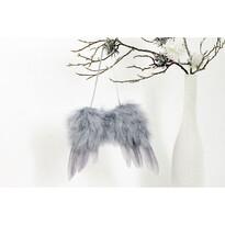 Sada vianočných ozdôb Anjelske krídla sivá, 4 ks