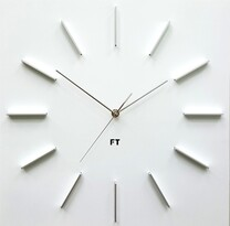 Future Time FT1010WH Square white Designerski zegar ścienny, 40 cm