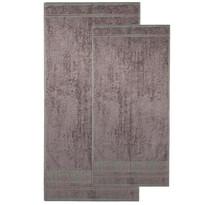 4Home sada Bamboo Premium osuška a ručníky šedá, 70 x 140 cm, 50 x 100 cm