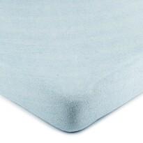 Cearșaf 4Home, din bumbac fin, albastru deschis, 90 x 200 cm