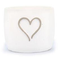 Betónový obal na kvetináč srdce pr. 18,5 cm