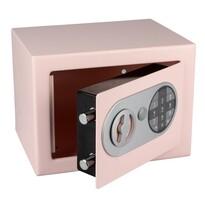 Stalowy sejf z zamkiem elektronicznym, różowy