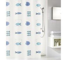 Koupelnový závěs Meusch, modrá, 180 x 200 cm