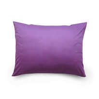 Povlak na polštář satén tmavě fialová, 70 x 90 cm