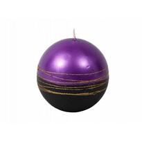 Lumânare Lumina Gold glob, purpuriu