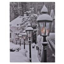 Obraz LED na płótnie Snowy Lamps, 40 x 30 cm