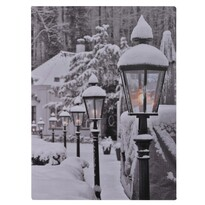 Tablou cu LED-uri Snowy Lamps, 40 x 30 cm