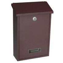 Poštová oceľová schránka Vigo, hnedá