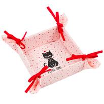 Textilní košík Kočka, 34 x 34 cm