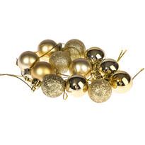 Vianočné gule 12 ks, zlatá