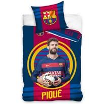 Bavlněné povlečení FC Barcelona Pique 2016, 140 x 200 cm, 70 x 90 cm