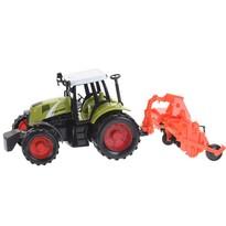 Traktor s prívesom oranžová, 40 cm
