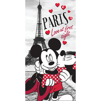 Osuška Mickey & Minnie Love Paris, 70 x 140 cm