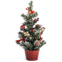 Vánoční stromeček zdobený v. 30 cm, červená