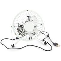 USB ventilátor, fehér, 13,5 x 11 x 15 cm