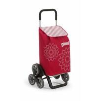 Gimi Nákupná taška na kolieskach Tris Floral červená, 56 l