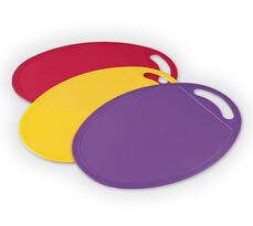 Zestaw kolorowych desek do krojenia