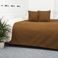 Prehoz na posteľ Double Face hnedá/krémová, 220 x 240 cm, 2x 40 x 40 cm