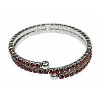 Bransoletka magnetyczna z kryształkami, czerwony
