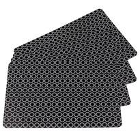 Körök alátétek fekete 28 x 43 cm, 4 db