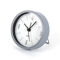 Ébresztőóra Round szürke, átmérő 9,2 cm