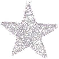 Stea de Crăciun Rapallo, argintiu, 50 LED