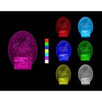 3D lampa LED Świąteczne sanie