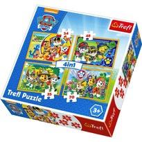 Trefl Puzzle Tlapková patrola Vždy včas, 4 ks