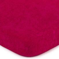 Cearșaf de pat 4Home frotir, roz, 160 x 200 cm
