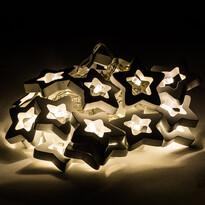 Stars dekoratív fényfüzér, 20 LED